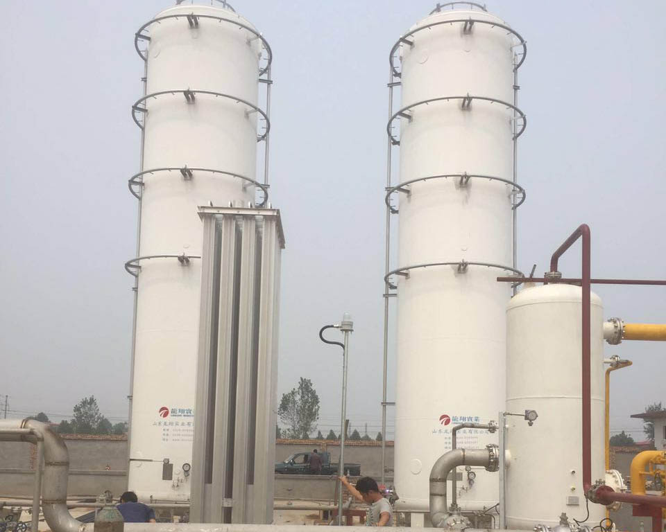 石家庄富民新能源,CNG气化站施工现场
